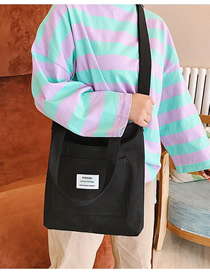 Fashion Black Colorblock Canvas Shoulder Messenger Bag