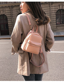 Fashion Pink Pu Multi-purpose Shoulder Bag