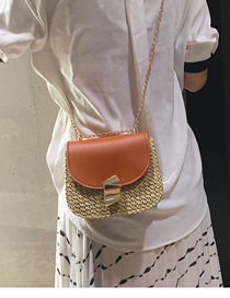 Fashion Light Brown Straw Hand Bag