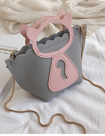 Fashion Dark Gray Hand Chain Single Shoulder Messenger Bag
