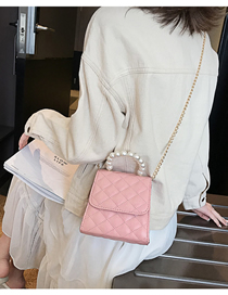 Fashion Pink Chain Hand Shoulder Shoulder Bag
