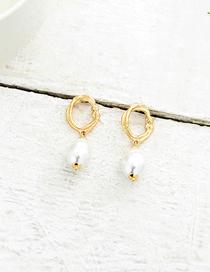 Fashion Gold Imitation Pearl Earrings