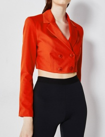 Fashion Red Double-breasted Short Suit