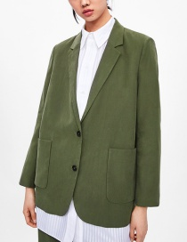 Fashion Armygreen Single-breasted Suit