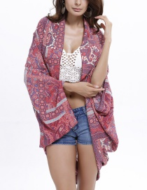 Fashion Red Cotton Shawl
