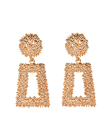 Fashion Gold Alloy Rectangular Earrings