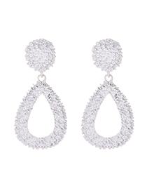 Fashion White Alloy Drop Earrings