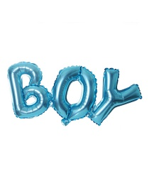 Fashion Blue Conjoined Boy[light Board] Aluminum Foil Balloon
