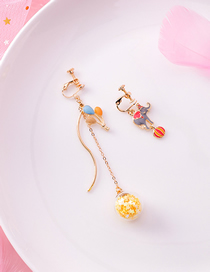 Fashion Ear Clip Asymmetrical Elephant Balloon Earrings