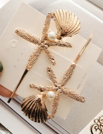 Fashion Starfish Alloy Geometry Hair Clip