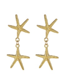 Fashion Gold Alloy Starfish Earrings