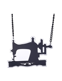 Fashion Black Sewing Machine Necklace