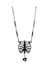 Fashion Black Skeleton Necklace