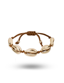 Fashion Golden Shell Alloy Adjustable Bracelet