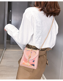 Fashion Pink Laser Tassel Shoulder Bag