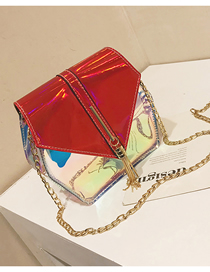 Fashion Red Transparent Laser Shoulder Messenger Bag
