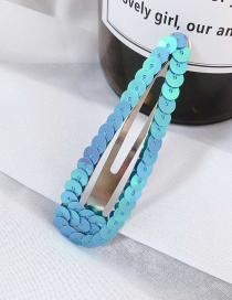 Fashion Blue/drip Sequins Sequins Hair Clip