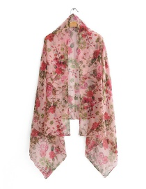 Fashion Color Printed Silk Scarf Shawl