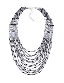 Fashion Black Beaded Multi-layer Necklace