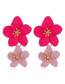 Fashion Red Flower Earrings