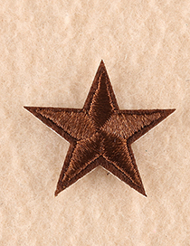 Fashion Dark Brown Embroidered Small Five-pointed Star Patch