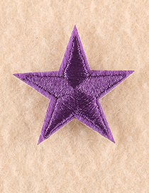Fashion Golden Embroidered Small Five-pointed Star Patch
