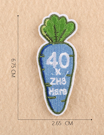 Fashion Blue Embroidered Vegetable And Fruit Cloth Label