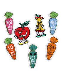 Fashion Color Embroidered Vegetable And Fruit Cloth Label 7