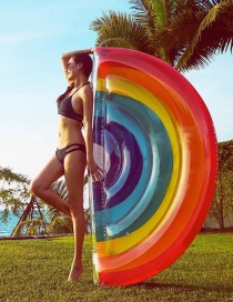 Fashion Rainbow Floating Row Inflatable Floating Row Mount Swimming Ring