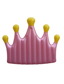 Fashion Pink Crown Floating Row Inflatable Floating Row Mount Swimming Ring