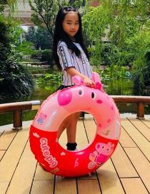 Fashion Red Inflatable Pig Swimming Ring