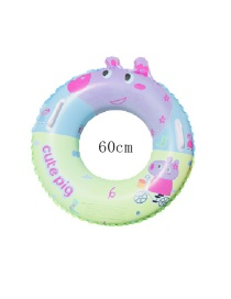 Fashion Blue Inflatable Pig Swimming Ring