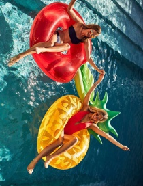 Fashion Backrest Pineapple Swimming Ring Large Swimming Ring