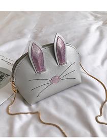 Fashion Silver Crossbody Cartoon Ear Bag