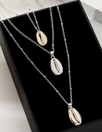 Fashion Silver Multi-layer Shell Necklace Adjustable