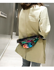 Fashion Colorful Green Sequined Diagonal Shoulder Bag