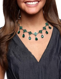 Fashion Green Water Drop Necklace