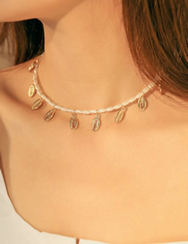 Fashion Gold Alloy Pearl Shell Necklace