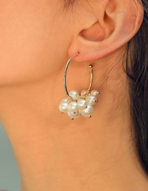 Fashion White Pearl Alloy Pearl Ring Earrings