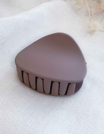 Fashion Bean Sand Dark Purple Medium Scrub Hair Clip