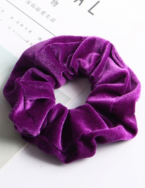 Fashion Large Flannel Ring - Bright Purple Fleece Hair Ring