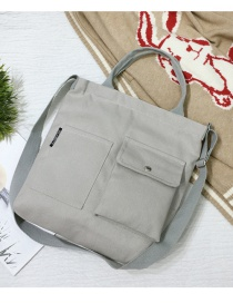 Fashion Gray Multi-pocket Shoulder Bag