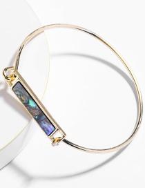 Fashion Gold Abalone Shell Square Copper Bracelet