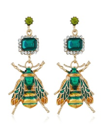 Fashion Color Insect Gemstone Earrings