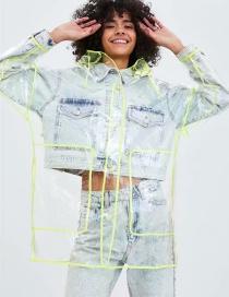 Fashion Transparent Transparent Raincoat