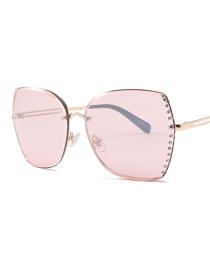 Fashion Coated Powder C4 Big Box Cut Edge Drill Sunglasses