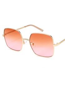 Fashion Gold Frame Red Piece C7 Sunglasses