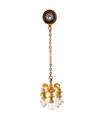Fashion Gold Wax Table Hanging Crystal Earrings