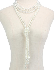 Fashion 107283 Multi-layer Pearl Necklace