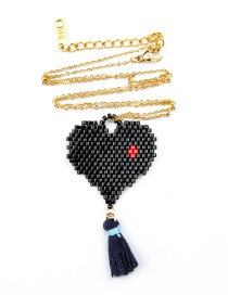 Fashion Black Heart Necklace